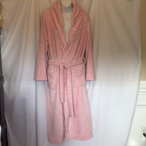 Victoria Secret Plush Hooded Long Robe Sz Med